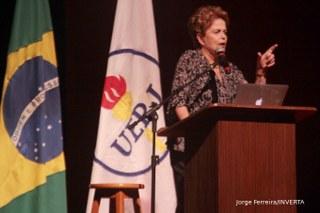 Aula Magna da ex-Presidente Dilma Roussef na UERJ