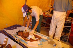 Mais crianças haitianas salvas por médicos cubanos