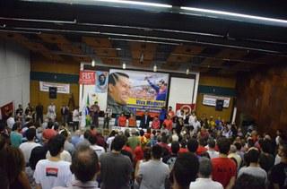 Ato na UERJ reafirma compromisso do povo brasileiro contra o fascismo e em defesa da Revolução Bolivariana