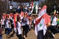 Ato Pela Paz na Síria leva comunidade árabe à Praça da Liberdade/MG