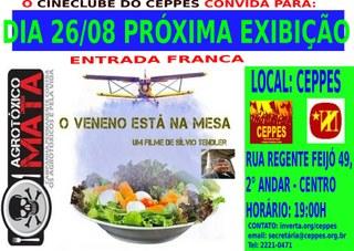 Cineclube do Ceppes: O Veneno está na Mesa