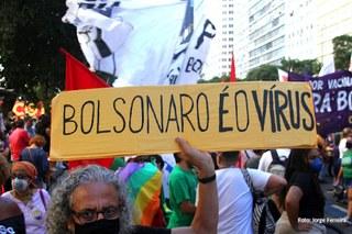Manifestação Fora Bolsonaro no RJ dia 24/07