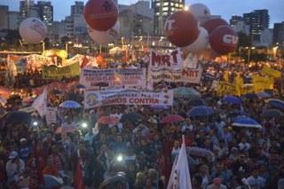 Movimentos nas ruas contra a aprovação da PL4330 - São Paulo