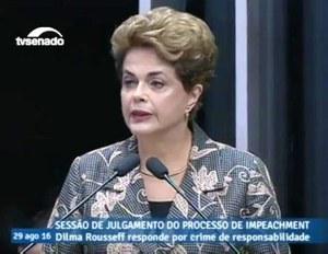 Discurso de Dilma Rousseff na abertura da sessão plenária do Senado - 29-08-16