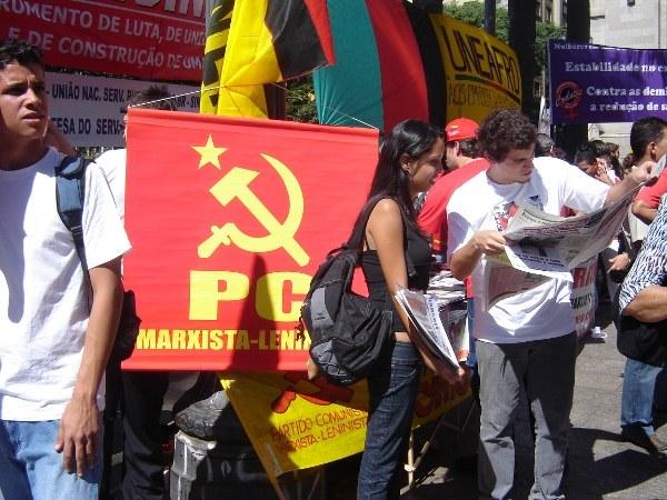 Primeiro de Maio na Praça da Sé em São Paulo