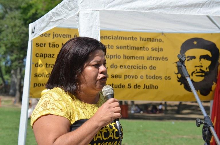 Jaqueline Alves do Movimento Nacional de Lutas pelo Socialismo