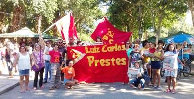 1 de Maio de 2017 ato do PCML(Br) na Quinta da Boa Vista, Rio de Janeiro