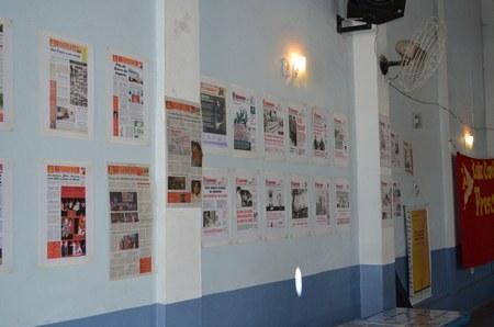 Exposição de capas do Inverta e do Granma Internacional