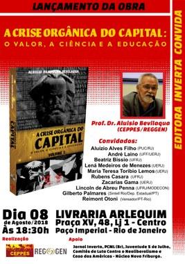 Lançamento A Crise Organica do Capita - Rio de Janeiro