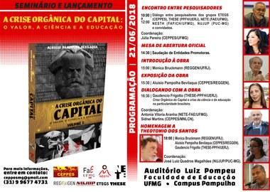 Seminario e Lançamento A Crise Orgânica do Capital - UFMG - 2018