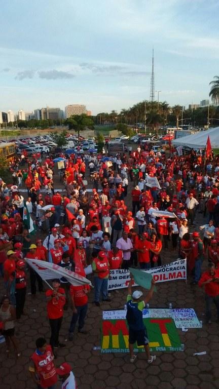 Em Brasília povo também se manifestou contra o Golpe