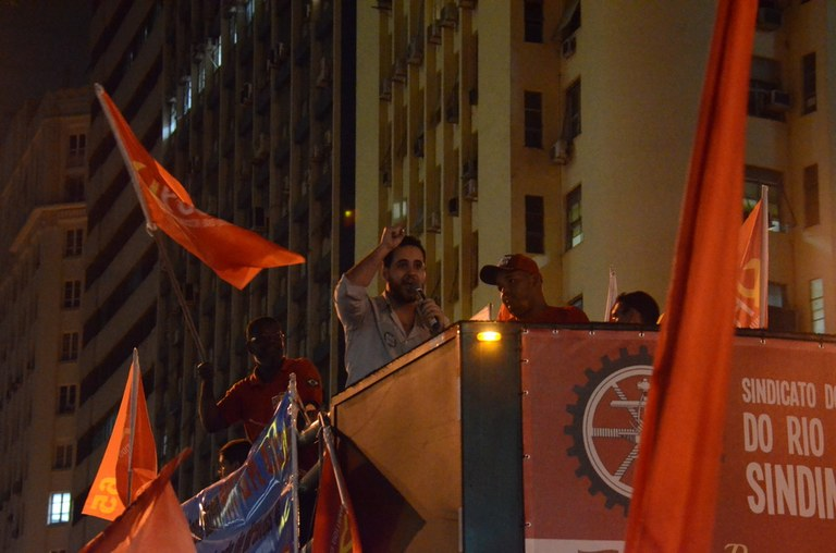 Michel Damasceno fala em nome da Juventude 5 de Julho