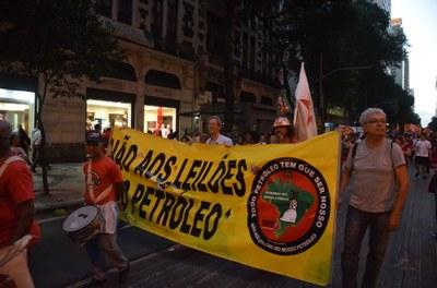 Sindipetro-RJ presente contra o olho do imperialismo no pré-sal