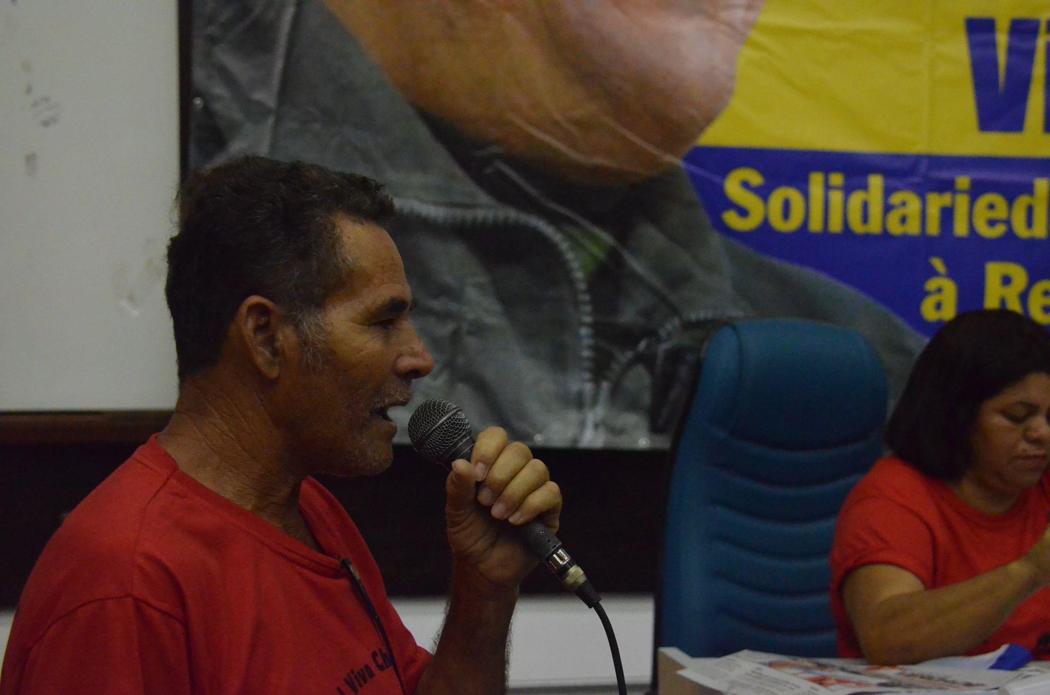 Companheiro José do Movimento Nacional de Lutas pelo Socialismo