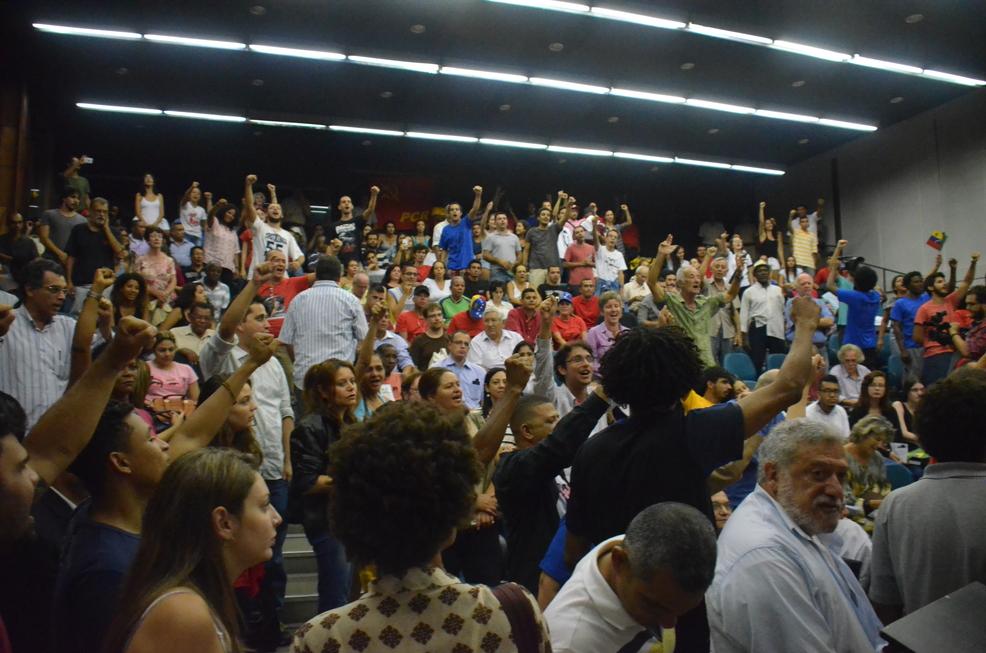 Público lotou auditório 91 da UERJ