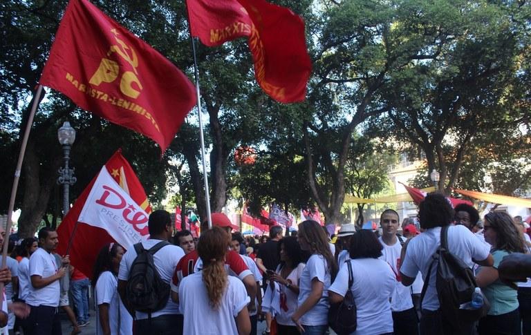 PCML (Brasil) presente na praça XV
