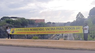Integrantes do Comitê de Luta da Favela do Nhocuné do CNCN - SP, O Povo está Morrendo! Vacina para todos já!