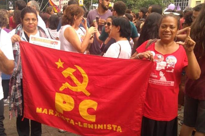 Mulheres do PCML na luta, #Ele Não!