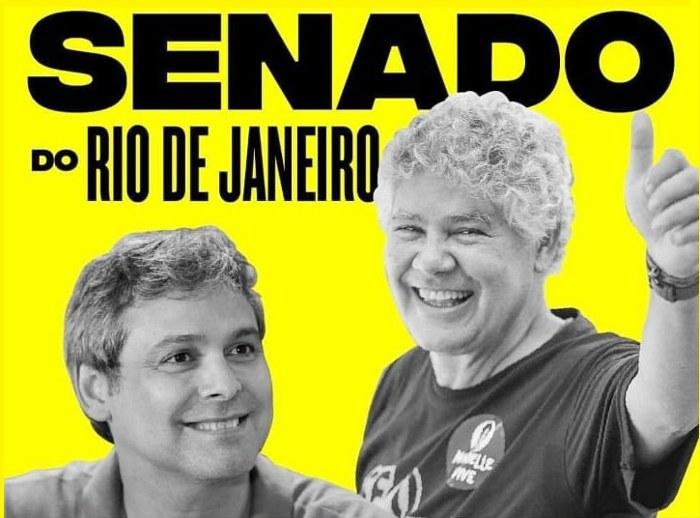 Candidatos ao Senado no Rio de Janeiro: Lindbergh Farias (131) e Chico Alencar (500)