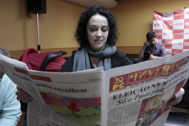Marcia Tiburi lendo o Inverta!