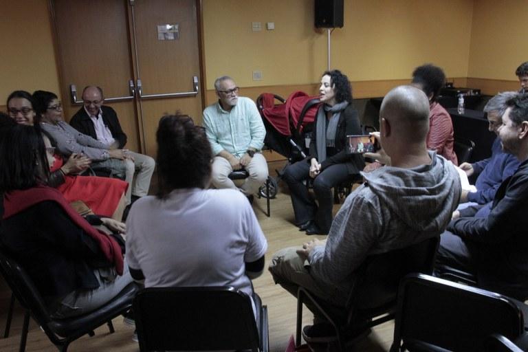 Coletivo do PCML em encontro com a candidata Marcia Tiburi (PT-RJ)