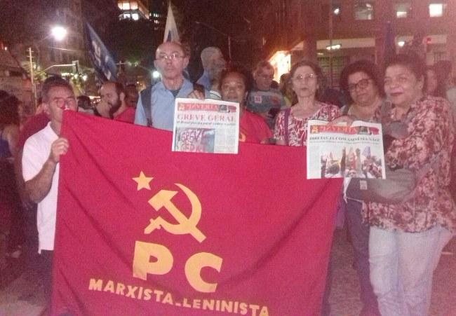 PCML e Jornal Inverta na manifestação da Greve Geral no Rio de Janeiro.