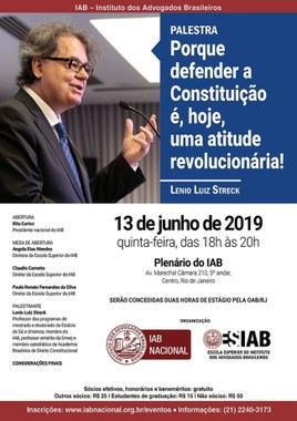 Evento IAB - Instituto dos Advogados Brasileiros
