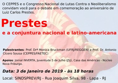 Prestes e a conjuntura nacional e latino-americana