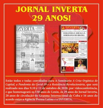 INVERTA 29 ANOS!
