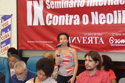 Representante da Juventude 5 de Julho faz saudação ao evento
