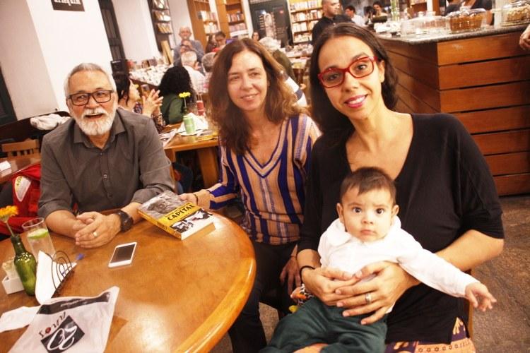 Aluisio, Adriana e a Profª Júlia Pereira (CEPPES/UFMG)