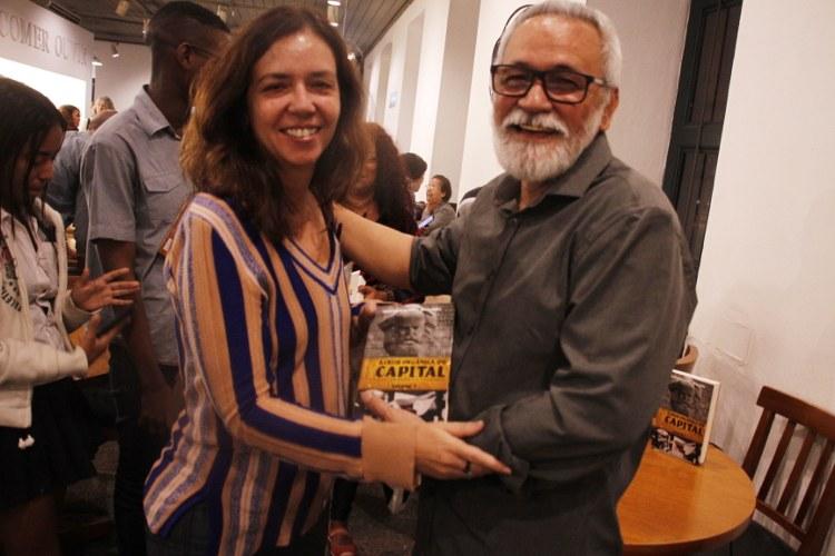 O autor e a Defensora do NUTH/RJ Adriana Beviláqua