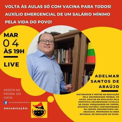 Live com Adelmar Santos Araújo