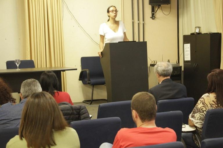 Abertura oficial do evento pela Profª Júlia Pereira