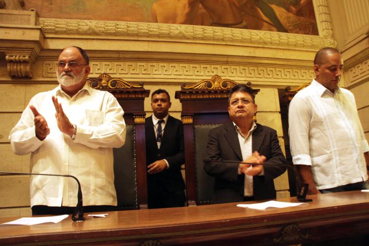 Representantes de Cuba, Venezuela e Prensa Latina