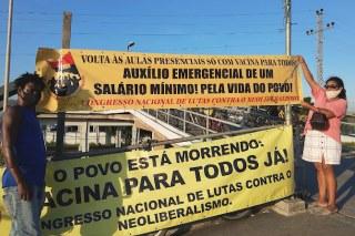 Comitê da Baixada Fluminense do CNCN na campanha vacina para todos já! por um auxílio emergencial de um salário mínimo