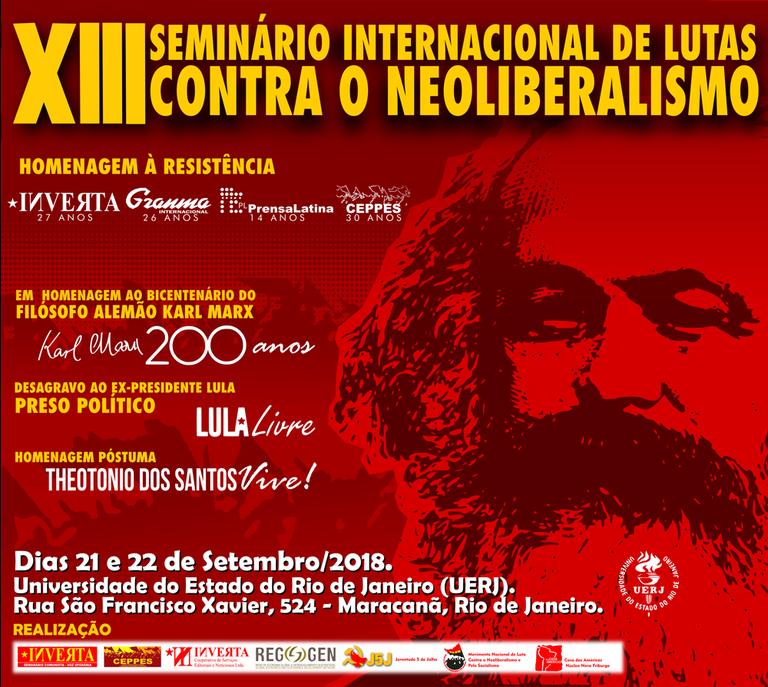XIII Seminário Internacional de Lutas contra o Neoliberalismo