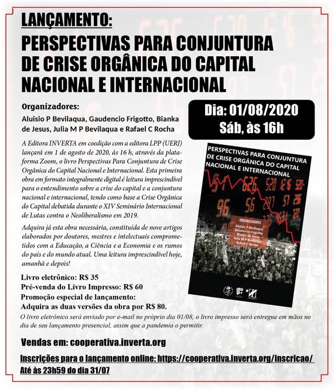 Lançamento do livro Perspectivas para Conjuntura de Crise Orgânica do Capital