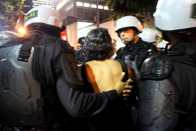 Manifestação contra a reforma da Previdência - Repressao - RJ 19/02/18