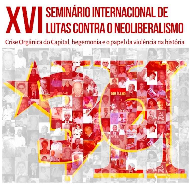 Mural XVI SeminA!rio de lutas contra o Neoliberalismo